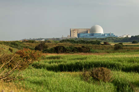 Sizewell A and Sizewell B, two nuclear power stations located on the North Sea coast