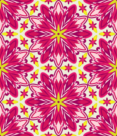 Kaleidoscope geometric colorful seamless pattern. Abstract vector background. Stock Illustratie