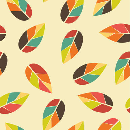 Seamless Autumn background with leaves. Can be used for textiles, prints, paper goods, invitations and other. Illustration