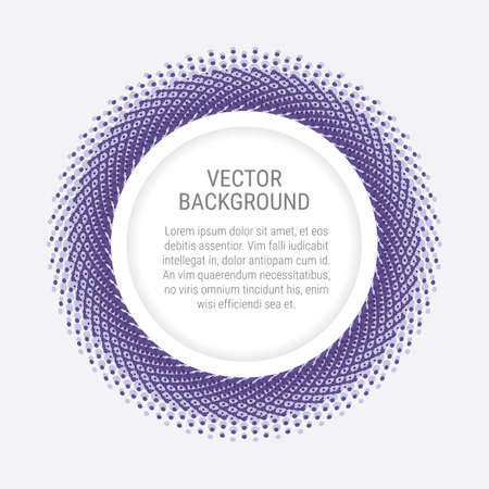 Abstract background with violet dots and round space for a copy Illustration