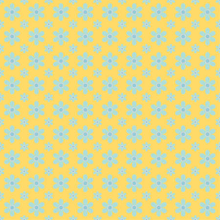 Yellow floral background for cards, wrapping, web page backgrounds, textile designs, fills, banners, events invitation, menus, prints and scrapbooking Vettoriali