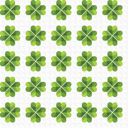Seamless vector background with green clovers