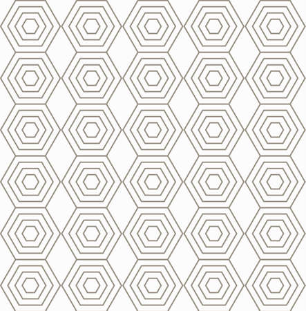 Seamless vector pattern with brown hexagons. Can be used as background for business cards, banners or prints.
