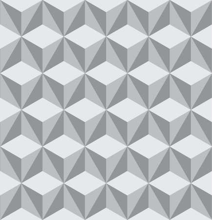 Seamless vector pattern with grey triangles. Can be used as background for business cards, banners, various prints and textiles. Vettoriali