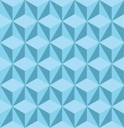 Seamless vector pattern with blue triangles. Can be used as background for business cards, banners, various prints and textiles.