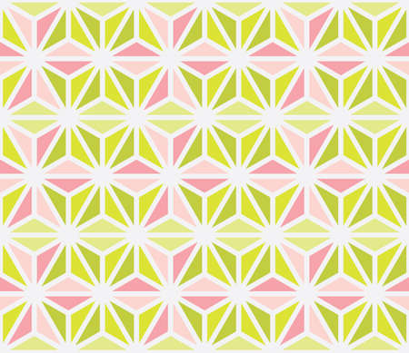 Seamless vector pattern with pink and green triangles. Can be used as background for business cards, banners, various prints and textiles.