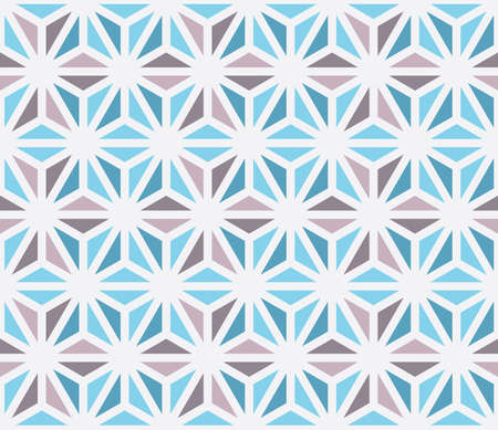 Seamless vector pattern with blue and purple triangles. Can be used as background for business cards, banners, various prints and textiles.