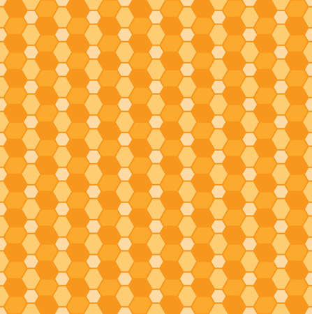 Seamless vector pattern with orange rhombs and hexagons. Can be used as background for business cards, banners or prints.