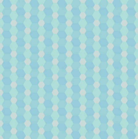 Seamless vector pattern with blue rhombs and hexagons. Can be used as background for business cards, banners or prints. Vettoriali