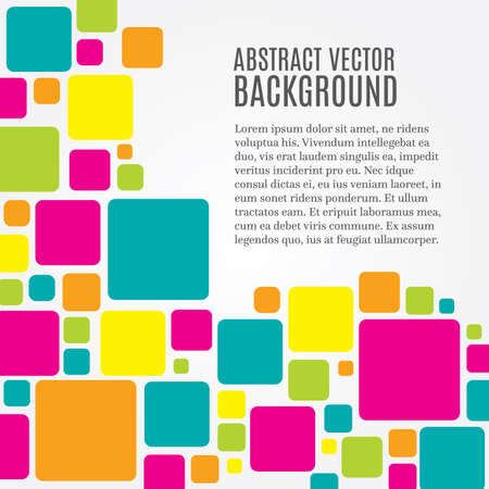 Abstract modern background with squares and copy space Illustration