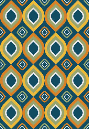 Seamless vector pattern with geometric shapes. Can be used as background for business cards, banners, various prints and textiles.