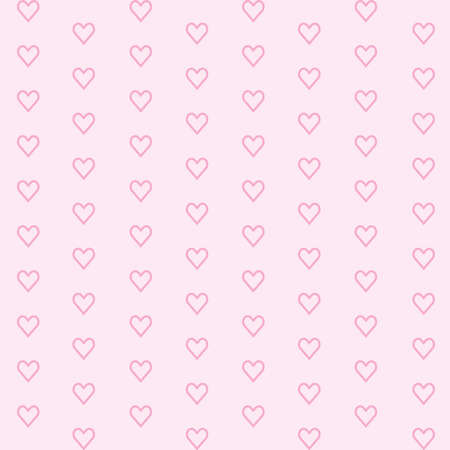 Pink background with hearts for web page backgrounds, textile designs, fills, banners