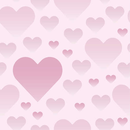 Pink background with hearts for web page backgrounds, textile designs, fills, banners Vettoriali