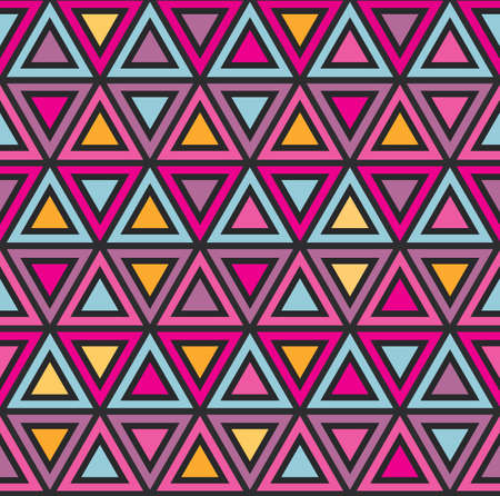 Abstract geometric seamless pattern with colorful triangles for leaflets, prints, banners, web design, invitations, mock ups, backgrounds, business cards