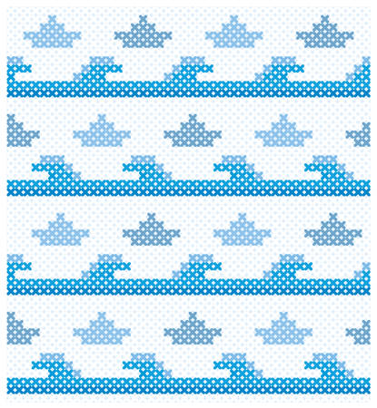 Seamless marine pattern for web page backgrounds, textile designs, fills, banners, cards