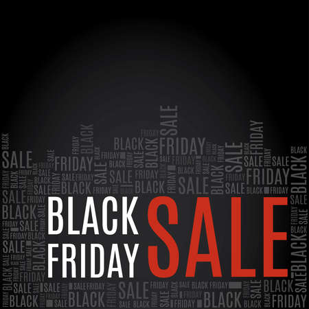 Black Friday Sale poster with copy space to use for prints, flayers, leaflets, adverts Vettoriali