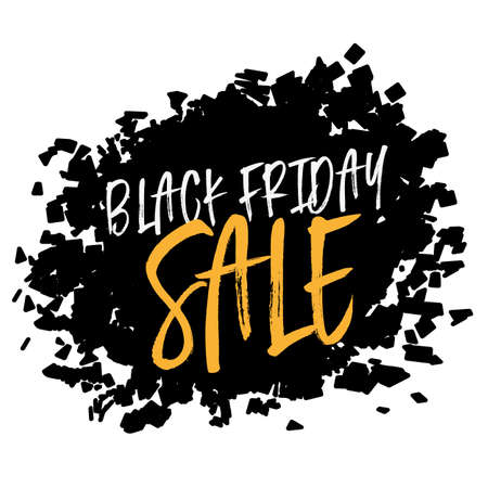 Black Friday Sale poster to use for prints, flayers, leaflets, adverts Vettoriali