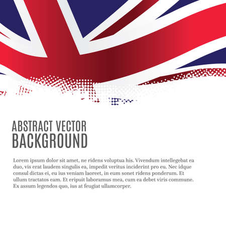 Vector background with United Kingdom flag and copy space