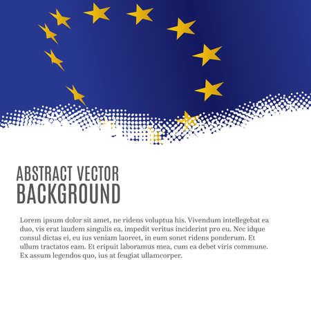 Vector background with European Union flag and copy space 일러스트
