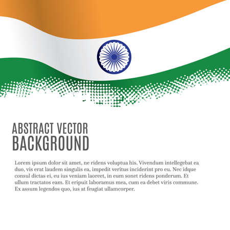 Vector background with Indian flag and copy space Illustration