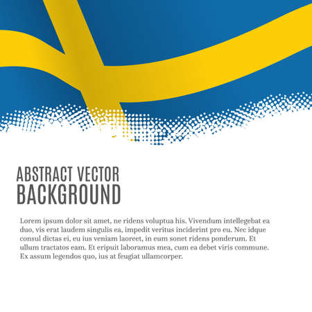 Vector background with Swedish flag and copy space Illustration