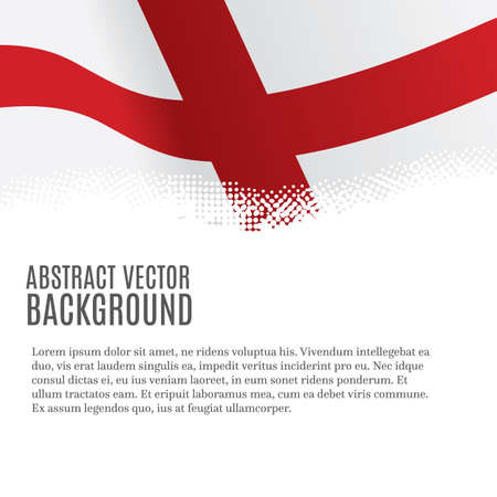 Vector background with flag of England and copy space 免版税图像 - 121819006