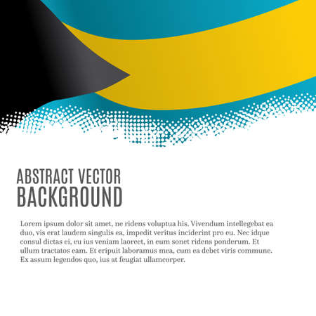 Vector background with flag of Bahamas and copy space Illustration