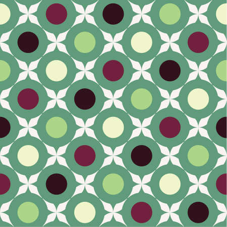Retro pattern with circles and stars