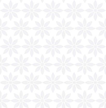 Seamless geometrical pattern with grey flowers