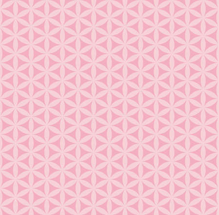 Seamless geometrical pattern with pink shapes