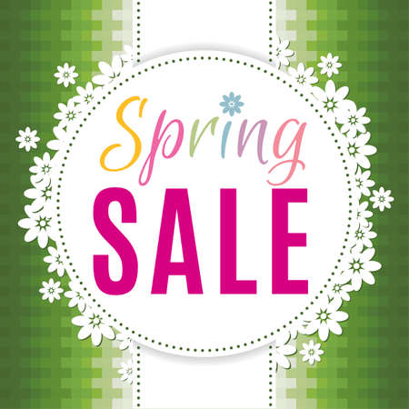 Colourful spring sale background for prints, leaflets, flayers, websites, emails, posters and price tags