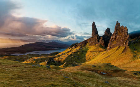 Sunrise over Old Man of Storr, Scottish Highlands - Isle of Skye