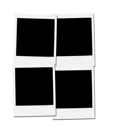 white polaroids: Picture of a Polaroids front. Isolated on white.