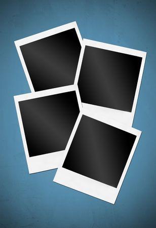 white polaroids: Picture of a Polaroids front. Isolated on white.   Stock Photo
