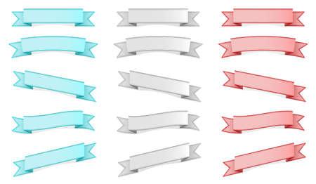 Three colors ribbons set Stock Vector - 15005531
