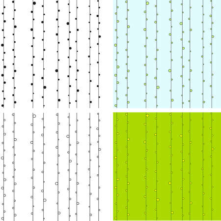 Classic seamless pattern with points located along lines Vector