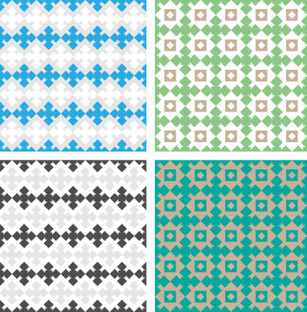 Classic pattern with repetitive geometric decorative elements Stock Vector - 15834965
