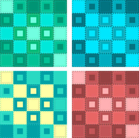 pastel colored: Patch seamless pattern. Pastel colored vector illustration Illustration