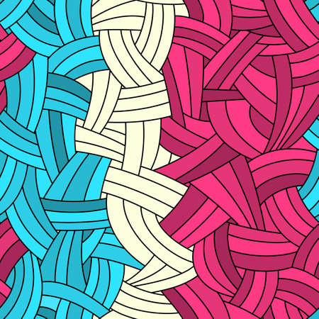 Colorful abstract waves background drawn by hand Vector