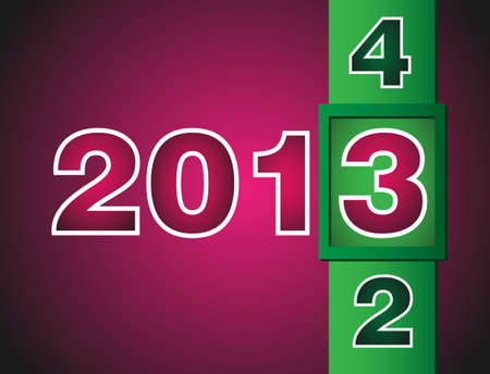Calendar changes for 2013 year  Pink colored background Vector