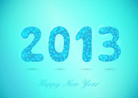 2013 Happy New Year glossy background  Typography  EPS10 Vector