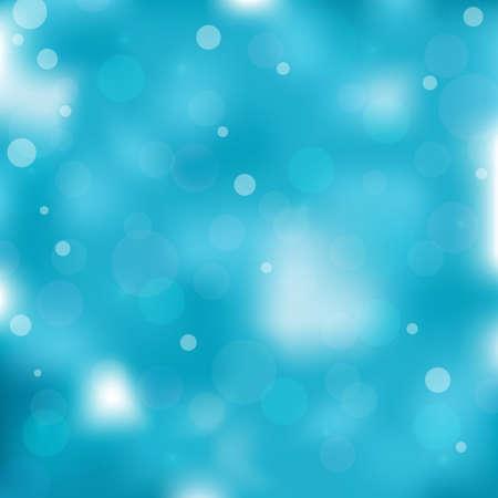 Blue colored bokeh light background. Vector illustration