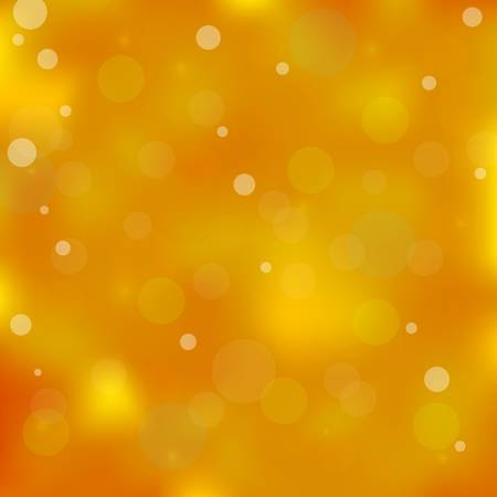 Yellow colored bokeh light background. Vector illustration