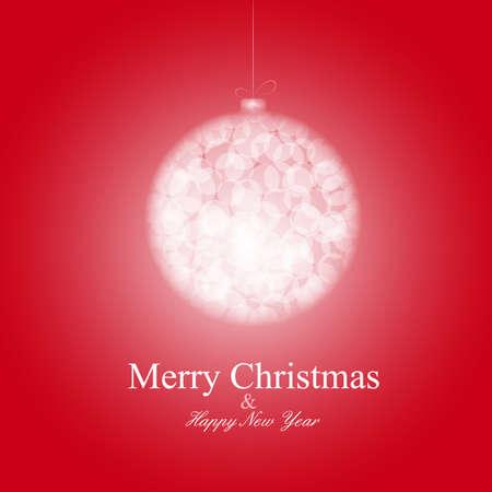New year ball postcard in bokeh technique  Merry Christmas card Stock Vector - 16171153