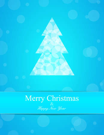 Bright background with Cristmas tree  Label for text Stock Vector - 16281820