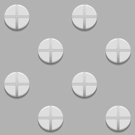 chamfer: Seamless pattern with screws on gray background Illustration