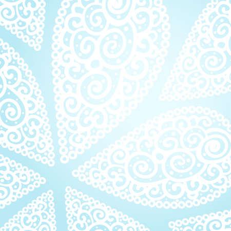 Vector blue and white doodle twirls background Vector