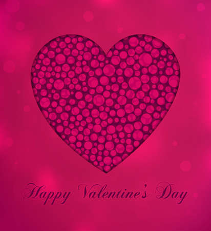 beautiful background on Valentine's Day with bokeh Vector