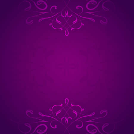 Retro styled violet floral vector background Vector