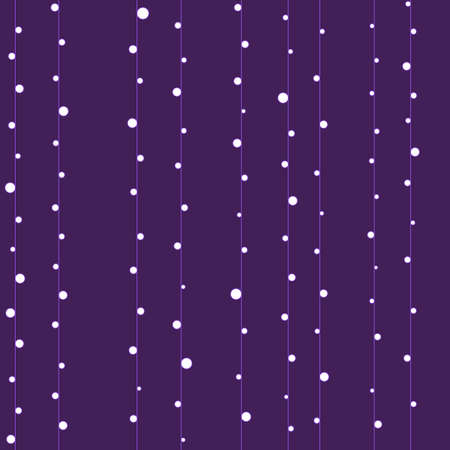 filling line: Purple seamless texture with lines and white dots Illustration